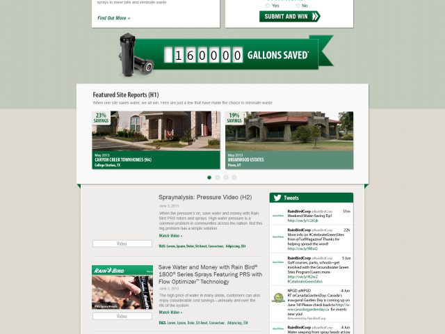 Rainbird Project PRS Website Design